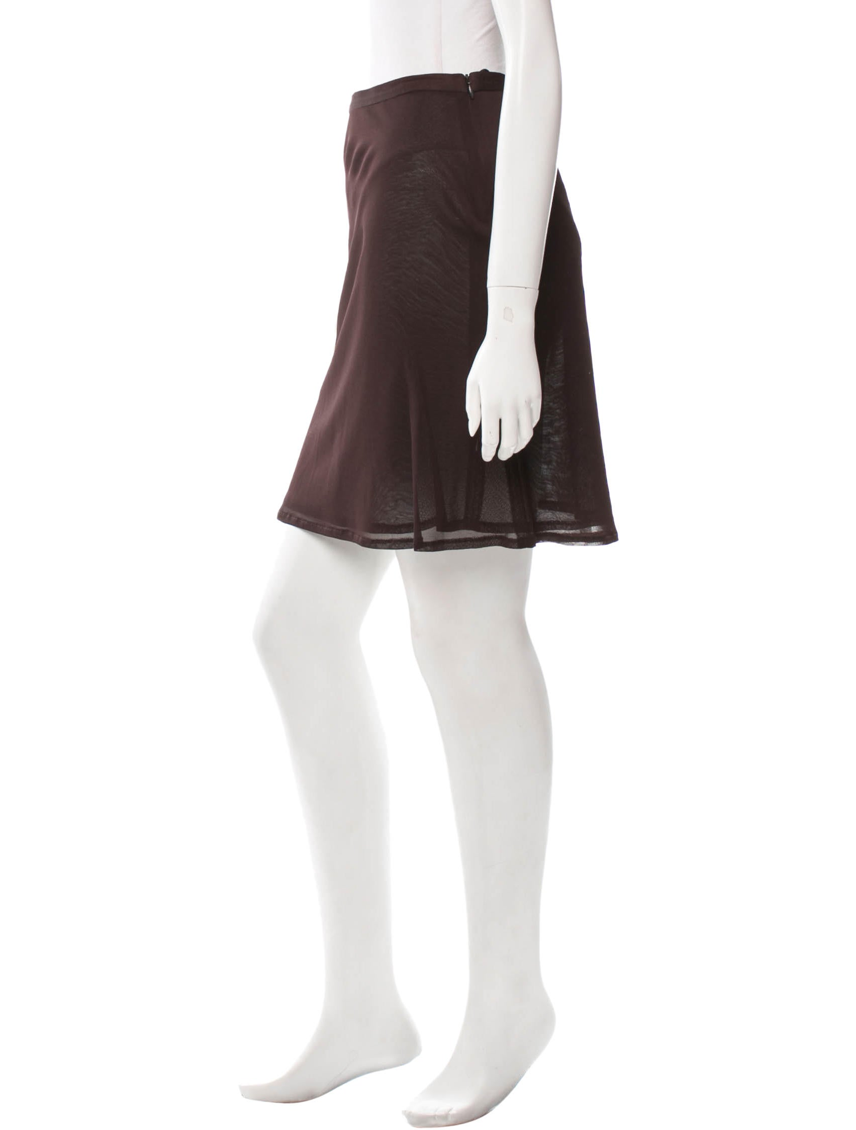 demeulemeester brown a line skirt clothing