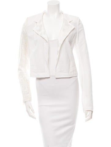 Ann Demeulemeester White Open Front Jacket w/ Tags None
