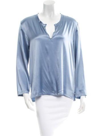Ann Demeulemeester Silk Long Sleeve Top None