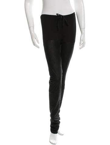 Ann Demeulemeester Leather Straight-Leg Pants w/ Tags None