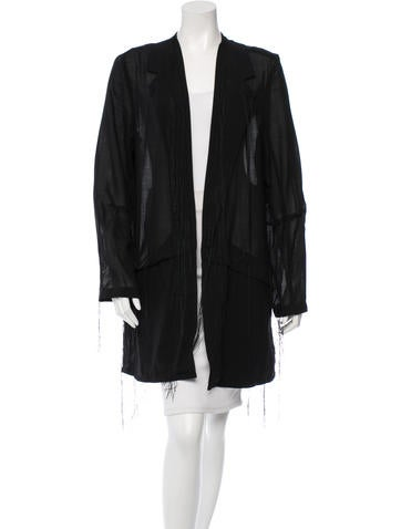 Ann Demeulemeester Lightweight Fringed Jacket w/ Tags None