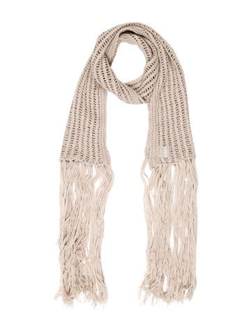Ann Demeulemeester Open Knit Wool Scarf None