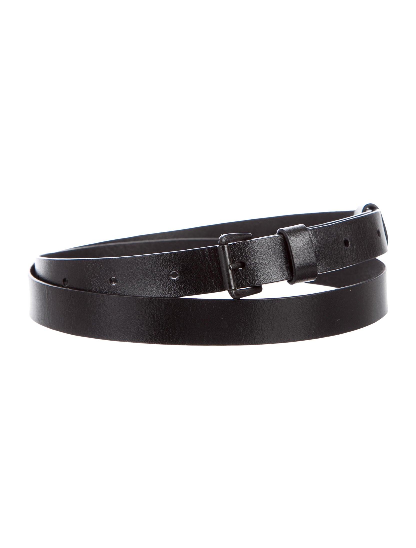 demeulemeester leather hip belt accessories