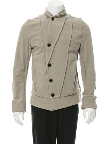 Ann Demeulemeester Woven Shawl Collar Jacket w/ Tags None