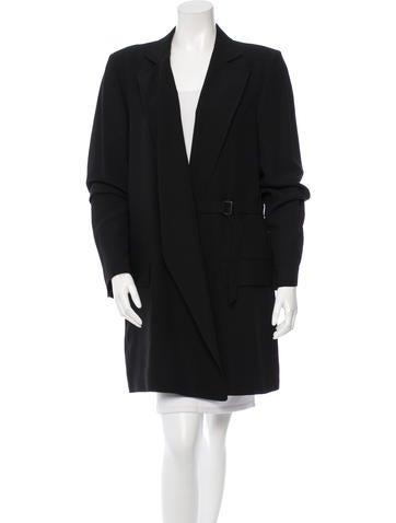 Ann Demeulemeester Notch-Lapel Knee-Length Coat w/ Tags None