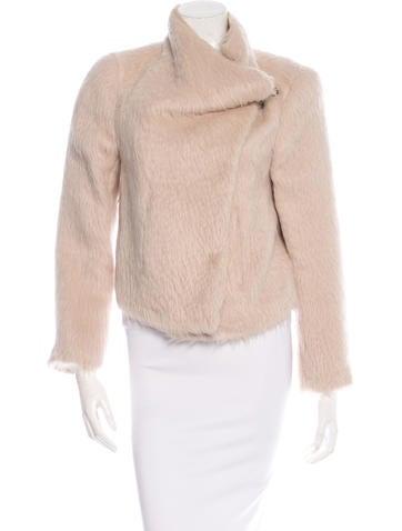 Ann Demeulemeester Fur-Trimmed Asymmetrical Jacket None