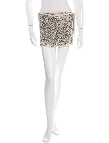 Ann Demeulemeester Silk Sequined Skirt w/ Tags None