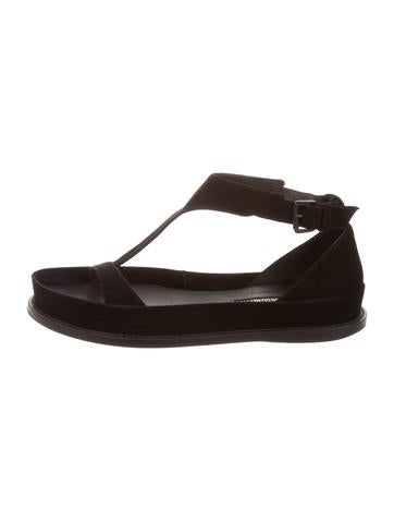 Ann Demeulemeester Suede Multistrap Sandals