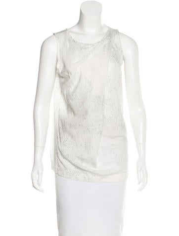 Ann Demeulemeester Printed Sleeveless Top None