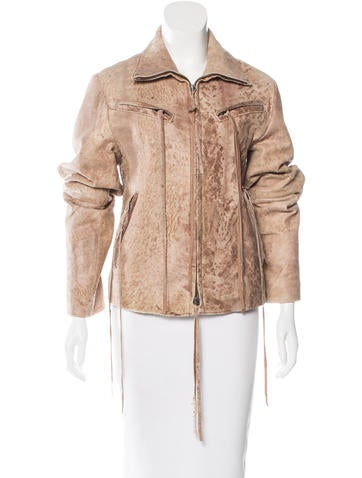 Ann Demeulemeester Distressed Leather Jacket w/ Tags None