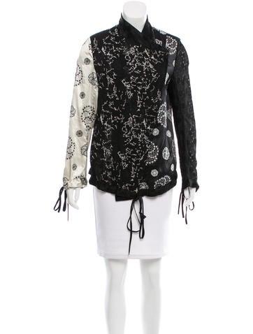 Ann Demeulemeester Embroidered Silk Jacket