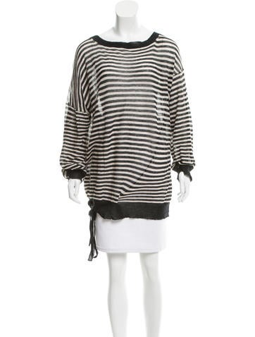 Ann Demeulemeester Striped Oversize Top None