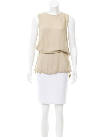 Ann Demeulemeester Sleeveless High-Low Top None