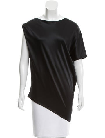 Ann Demeulemeester Silk Asymmetrical Blouse w/ Tags None