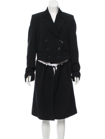 Ann Demeulemeester Double-Breasted Knee-Length Coat w/ Tags None