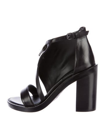 Ann Demeulemeester Leather Asymetrical Sandals w/ Tags None