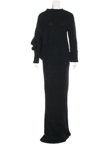 Ann Demeulemeester Long Alpaca-Blend Dress None