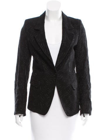 Ann Demeulemeester Embroidered Notch-Lapel Blazer w/ Tags None