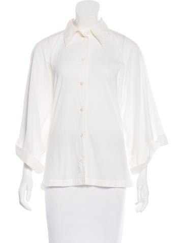 Ann Demeulemeester Wide Sleeve Button-Up Top None