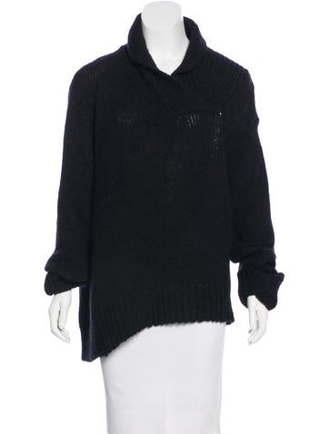 Ann Demeulemeester Alpaca-Blend Cowl Neck Sweater None