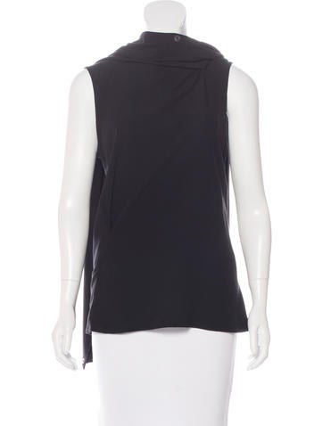 Ann Demeulemeester Draped Collar Sleeveless Top None
