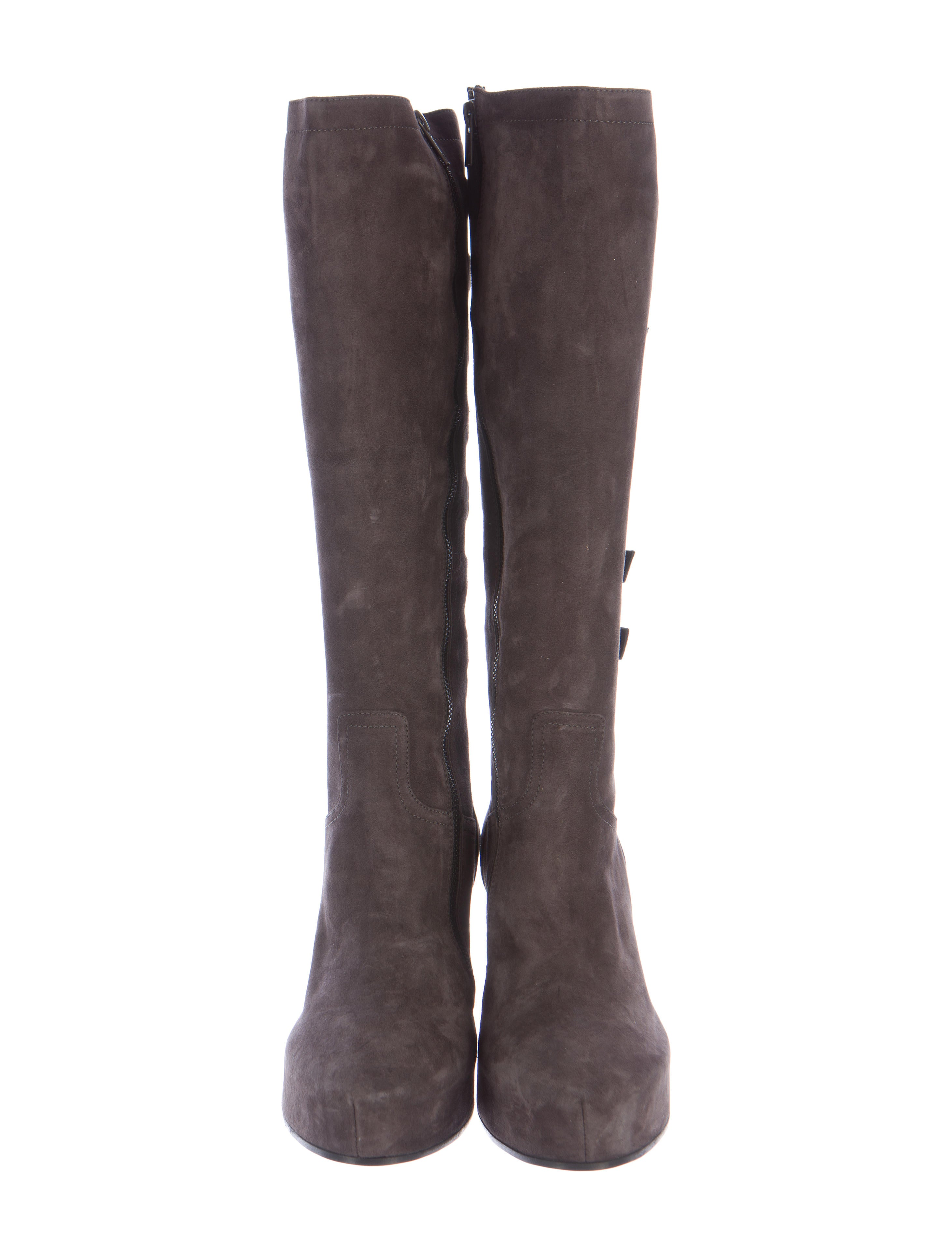 demeulemeester buckle accented wedge boots shoes