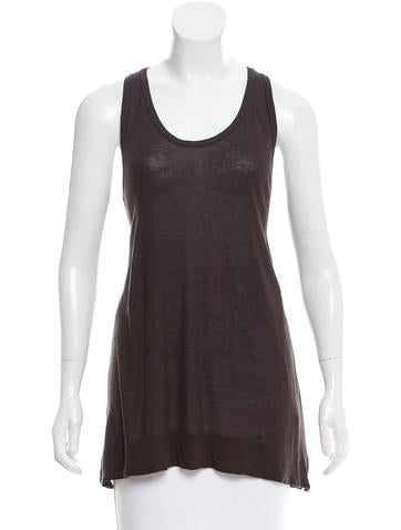 Ann Demeulemeester Sleeveless Racer Back Top None