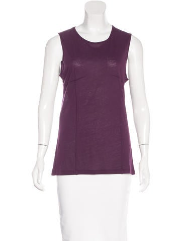 Ann Demeulemeester Sleeveless Round Neck Top None