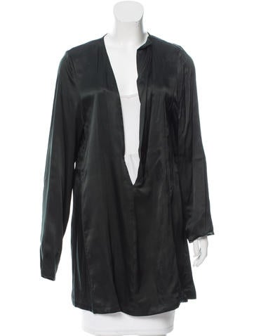 Ann Demeulemeester Long Sleeve Satin Tunic w/ Tags None