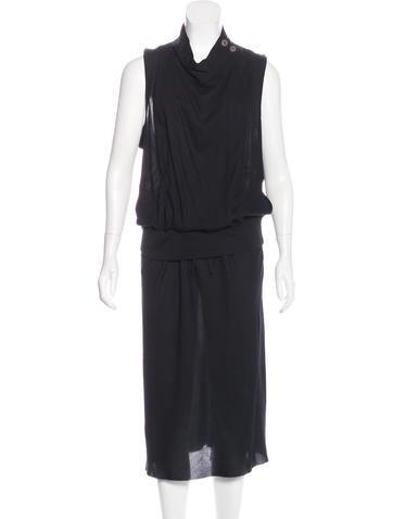 Ann Demeulemeester Cutout Midi Dress None