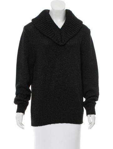 Ann Demeulemeester Rib-Knit V-Neck Sweater w/ Tags None