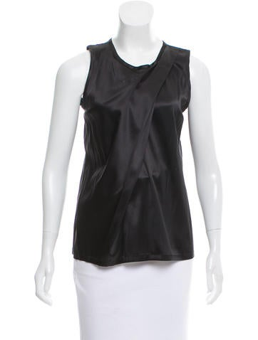 Ann Demeulemeester Sleeveless Silk Top w/ Tags None