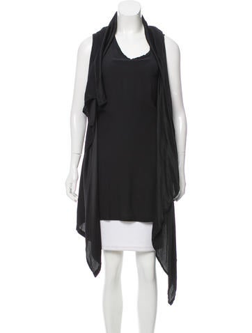 Ann Demeulemeester Draped Silk Top None