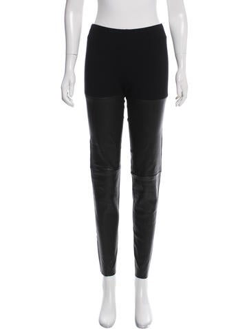 Ann Demeulemeester Leather-Accented Leggings None