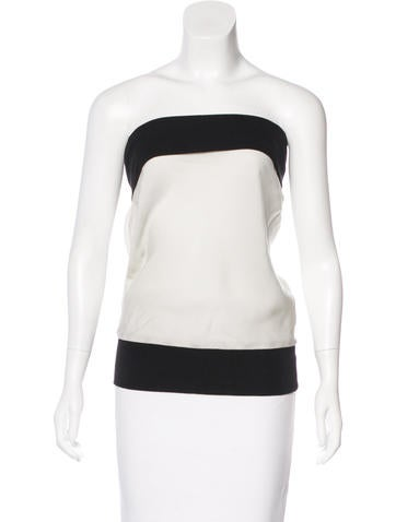 Ann Demeulemeester Two Tone Strapless Top None