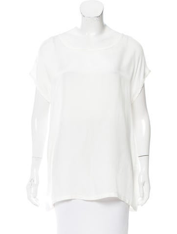 Ann Demeulemeester Scoop Neck Short Sleeve Blouse w/ Tags None