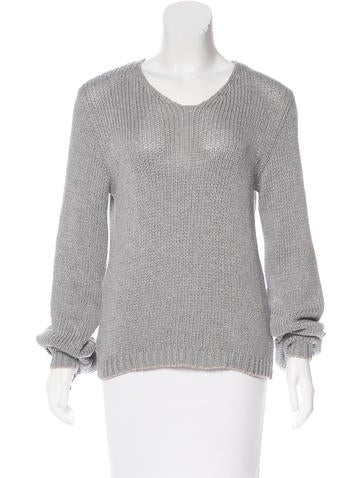 Ann Demeulemeester Long Sleeve Knit Top None