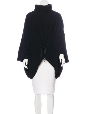 Ann Demeulemeester Asymmetrical Knit Poncho None