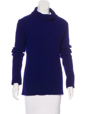 Ann Demeulemeester Rib Knit Turtleneck Sweater None