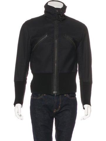 Ann Demeulemeester Rib Knit Trimmed Work Jacket None