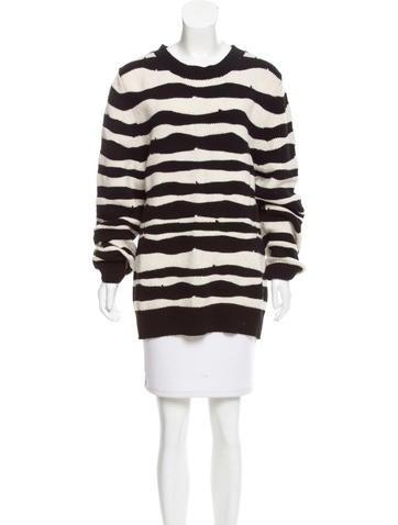 Ann Demeulemeester Striped Alpaca Sweater None