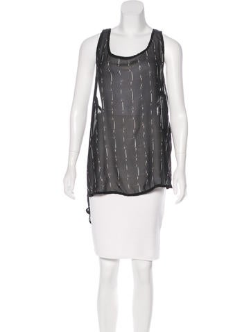 Ann Demeulemeester Silk Sleeveless Top None