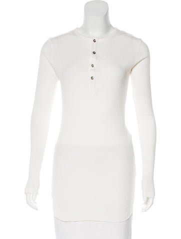 Ann Demeulemeester Rib Knit Button-Up Top None