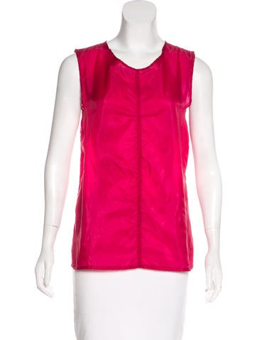 Ann Demeulemeester Semi-Sheer Sleeveless Top None