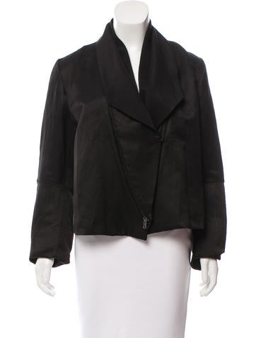 Ann Demeulemeester Casual Linen-Blend Jacket w/ Tags None
