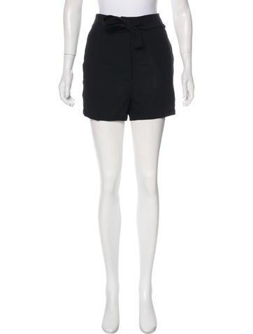 Fleece Wool Belted Shorts