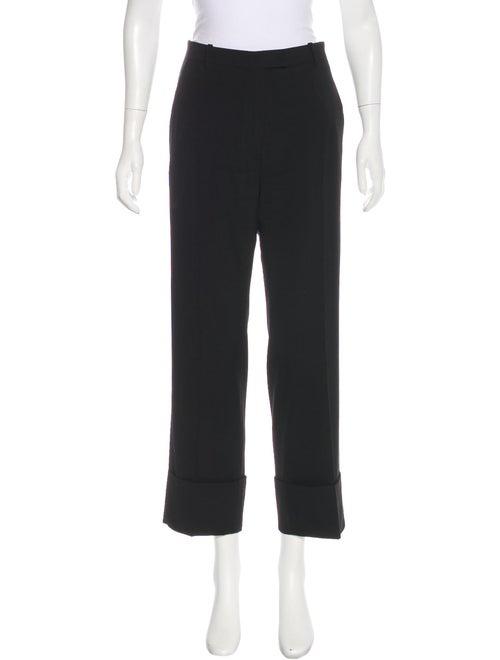 Ann Demeulemeester Mid-Rise Wool Pants Black