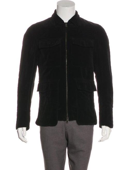 Ann Demeulemeester Velvet Utility Jacket black