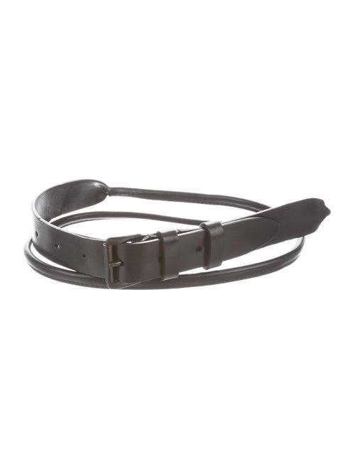 Ann Demeulemeester Leather Narrow Belt black