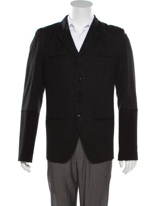 Ann Demeulemeester Wool-Blend Woven Blazer black